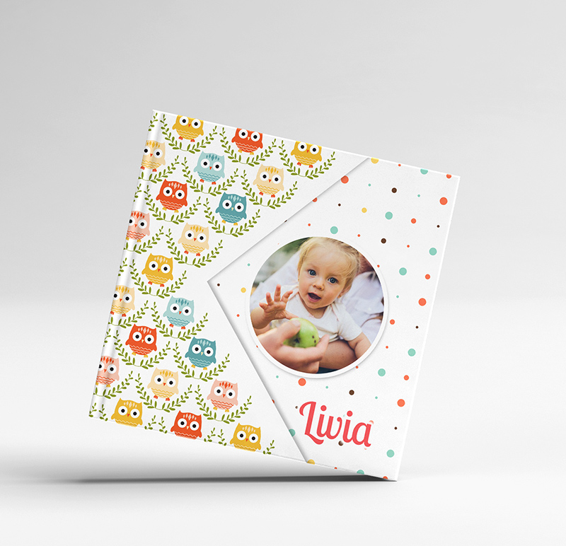 album foto carte digital personalizat bufnita