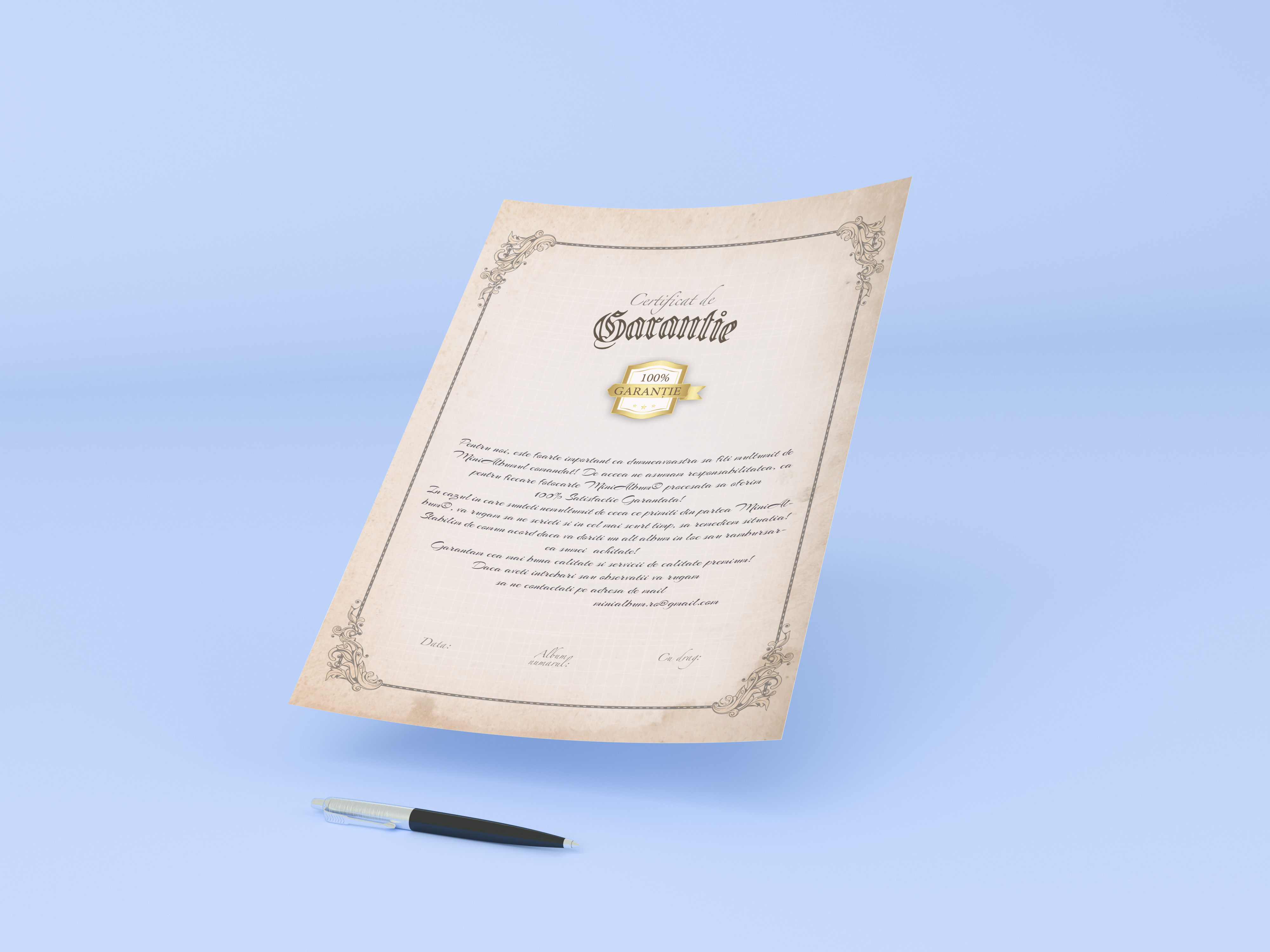 certificat_de_garantie_albume_fotocarte_minialbum_brasov