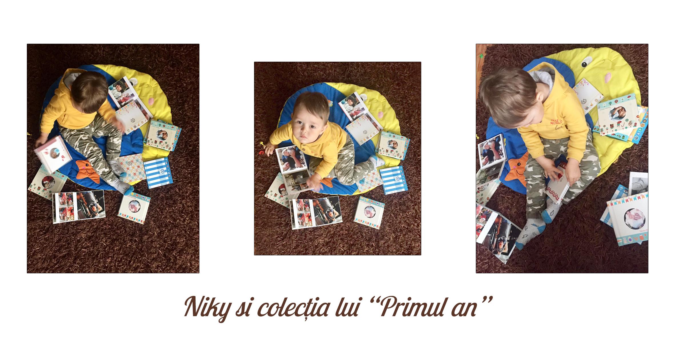 albume fotocarte layflat din primul an al copilului